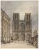 """Frechot. """"Le parvis de Notre-Dame"""", Paris (IVème arr.). Aquarelle. 1833. Paris, musée Carnavalet. © Musée Carnavalet / Roger-Viollet"""