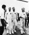 Apollo 9. Les astronautes américains Russel Schweickart, Davis Scott et James McDivitt. 13 mars 1969. Photographie Ria Novosti. © RIA Novosti / TopFoto / Roger-Viollet
