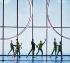 """""""Tree of Codes"""", œuvre d'art, sous la forme d'un livre créé par Jonathan Safran Foer, chorégraphié par Wayne McGregor sous la direction musicale de Jamie XX. Lumières: Rob Halliday. Scénographie: Olafur Eliasson. Compagnie: Ballet Opera national de Paris, 24 juin 2019. Photographie Colette Masson (née en 1934). Paris, Opéra Garnier, © Colette Masson / Roger-Viollet"""