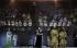 """Don Carlos"", five-act opera composed by Giuseppe Verdi, conducted by Fabio Luisi. Direction : Krzysztof Warlikowski. Libretto : Achille de Lauzières and Angelo Zanardini. Orchestra and chorus : Opéra national de Paris. Stage design and costumes : Malgorzata Szczesniak. Lights : Felice Ross. René Pape (Filippo II), Aleksandra Kurzak (Elisabetta di Valois). Paris, Opéra Bastille, on October 22, 2019. © Colette Masson / Roger-Viollet"