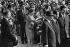 Visite du général Charles de Gaulle en Russie. Nikita Sergueïevitch Khrouchtchev (1894-1971) et Yvonne de Gaulle (1900-1979). Juin 1966. Photographie de Bernard Charlet (1936-2019). Fonds France-Soir. Bibliothèque historique de la Ville de Paris. © Bernard Charlet / BHVP / Roger-Viollet