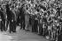 Visite du général Charles de Gaulle en Russie. Nikita Sergueïevitch Khrouchtchev (1894-1971), Yvonne de Gaulle (1900-1979) et Charles de Gaulle (1890-1970). Juin 1966. Photographie de Bernard Charlet (1936-2019). Fonds France-Soir. Bibliothèque historique de la Ville de Paris. © Bernard Charlet / BHVP / Roger-Viollet