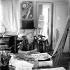 Marc Chagall (1887-1985), peintre français d'origine russe, 1958. Photographie de John Hedgecoe (1932-2010). J.Hedgecoe/TopFoto/Roger-Viollet