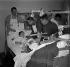 Patients de l'hôpital des Cadolles pendant l'épidémie de grippe espagnole. Neuchâtel (Suisse), 1953. © Ullstein Bild / Roger-Viollet