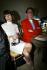 Anna Wintour (née en 1949) rédactrice en chef et Hamish Bowles (né en 1963) journaliste britannique, lors du défilé Lanvin. Paris, octobre 2002. © Gauthier Gallet / Roger-Viollet