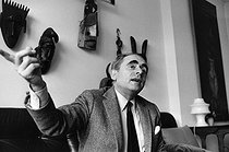 Henry-Georges Clouzot (1907-1977), French film-maker and scriptwriter, at his home. Paris, 4 October 1968. Photograph by André Perlstein (born in 1942). © André Perlstein / Roger-Viollet