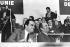 François Mitterrand (1916-1996), then leader of the Socialist Party, and Georges Marchais (1920-1997), French politician, at the Meeting du Programme Commun at the Palais des Sports de la Porte de Versailles. Paris, 28 décembre 1972. Photograph by André Perlstein (born in 1942)  © André Perlstein / Roger-Viollet