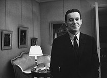 Albin Chalandon (1920-2020), French senior official, banker and politician, working at the Ministry of Equipment and Housing (1968-1972) under the government of Charles de Gaulle. Paris, 1969. Photograph by André Perlstein (born in 1942). © André Perlstein / Roger-Viollet