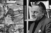 Lawrence Durrell (1912-1990), British writer and traveller. France, 1970. Photograph by André Perlstein (born in 1942). © André Perlstein / Roger-Viollet