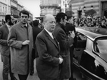 Jacques Foccart (1913-1997), French politician and businessman. France, 1969. Photograph by André Perlstein (born in 1942).  © André Perlstein / Roger-Viollet