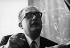 Jacques Soustelle (1912-1990), ethnologue, homme politique et académicien français. Photographie d'André Perlstein (né en 1942). France, 1970. © André Perlstein / Roger-Viollet