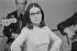 Nana Mouskouri (née en 1934), chanteuse grecque. A la télévision. Paris, 1973. © Studio Lipnitzki / Roger-Viollet