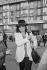 Nana Mouskouri (née en 1934), chanteuse grecque, à l'inauguration de Canal +. Paris, 4 novembre 1984. © Carlos Gayoso / Roger-Viollet