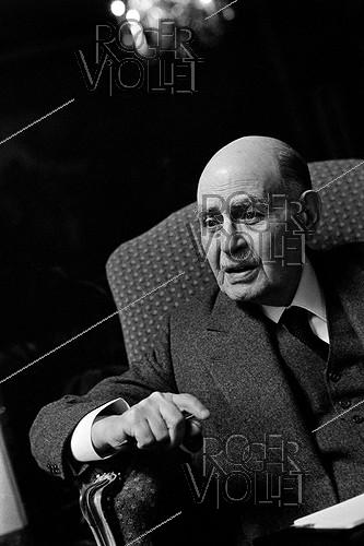 Roger-Viollet | 993825 | Albert Cohen (1895-1981), French-speaking Swiss writer, November 1968. Photograph by Georges Kelaïditès (1932-2015). | © Georges Kelaïditès / Roger-Viollet