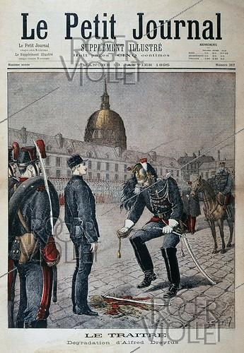 Roger-Viollet | 386467 | Alfred Dreyfus demoted in rank at Ecole Militaire. Paris, January 5, 1895.  Le Petit Journal , January 13, 1895. | © Roger-Viollet / Roger-Viollet