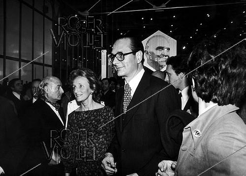 Roger-Viollet | 487752 | Bernadette and Jacques Chirac attending the opening ceremony of the Centre Georges Pompidou (Beaubourg). Paris, on January 31, 1977. | © Jean-Pierre Couderc / Roger-Viollet