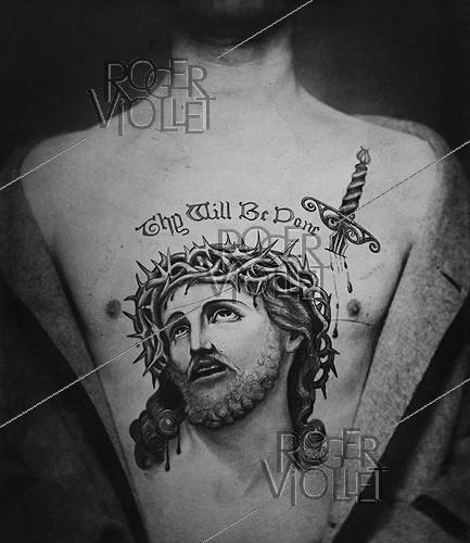 Roger-Viollet | 805866 | English tattoo : Ecce Homo, 1899. | © Jacques Boyer / Roger-Viollet