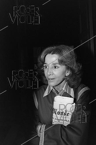 Roger-Viollet | 447004 | Gisèle Halimi (1927-2020), Tunisian-born French lawyer, feminist activist and politician. | © Jacques Cuinières / Roger-Viollet