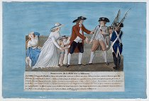 Roger-Viollet | 31588 | Jean-Baptiste Lesueur (1749-1826).The arrest of the King Louis XVI of France, June 1791. Gouache on a cardboard. Paris, musée Carnavalet. | © Musée Carnavalet / Roger-Viollet