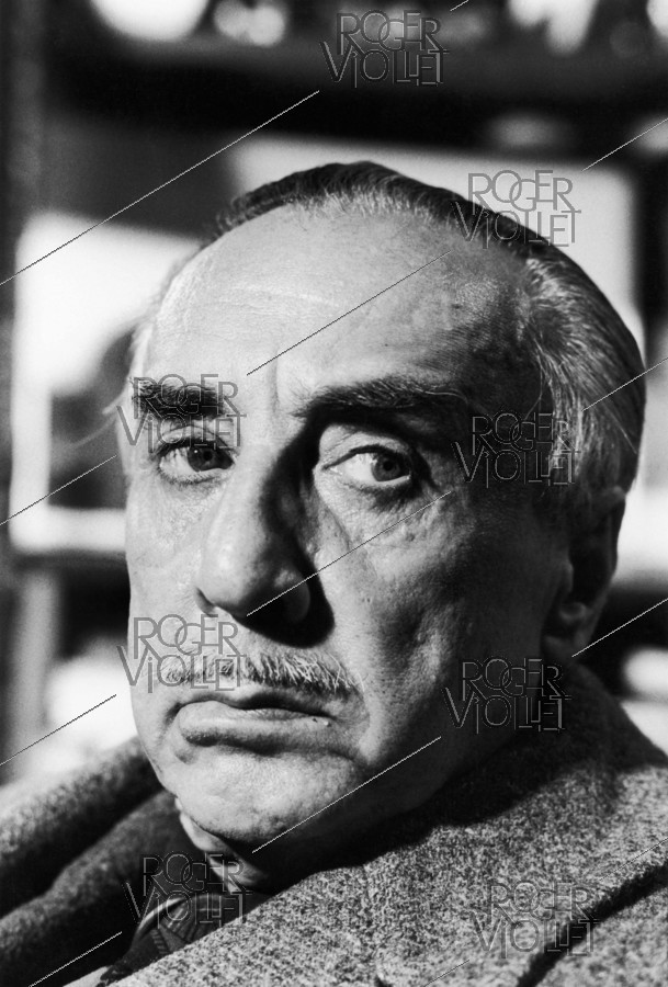 Roger-Viollet | 693140 | Romain Gary (1914-1980), French writer, at his place the day before his suicide. Paris, on December 1st, 1980. | © Jean-Régis Roustan / Roger-Viollet