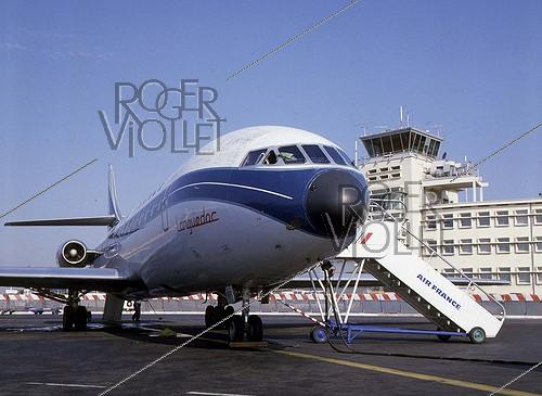 Roger-Viollet | 956220 | The  Languedoc  Caravelle airplane. France, in the 1960's. | © Roger-Viollet / Roger-Viollet