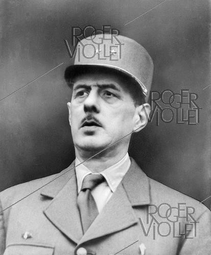 Roger-Viollet | 270184 | World War II. Charles de Gaulle (1890-1970), French General, 1944. | © LAPI / Roger-Viollet