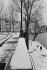 The quai Bourbon under the snow. Paris (IVth arrondissement), 2005. © Jean Mounicq/Roger-Viollet