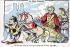 """""""La Patrie Française"""". Caricature sur Emile Loubet (1838-1929), homme d'Etat français. Carte postale humoristique. © Roger-Viollet"""
