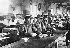 Guerre 1914-1918. Cantonnement des Chinois employés à la poudrerie de Saint-Fons (Rhône). © Roger-Viollet