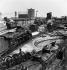 Gasometers and locomotive depot of the SNCF (French National Railway Corporation). Paris, Porte de la Chapelle, 1956. Photograph by Janine Niepce (1921-2007). © Janine Niepce / Roger-Viollet