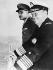 """Tito (Josip Broz, 1892-1980), homme d'Etat yougoslave, et Gamal Abdel Nasser (1918-1970), Premier ministre égyptien, lors d'une rencontre à bord du navire-école yougoslave """"Galeb"""", février 1955. © Ullstein Bild / Roger-Viollet"""
