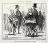 """Honoré Daumier (1808-1879). """"L'Exposition Universelle, numéro 16 : Effets du tourniquet sur les jupons en crinoline"""". Gravure. Paris, musée Carnavalet.    © Musée Carnavalet / Roger-Viollet"""