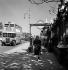 Entrée du métro Westminster. Londres (Angleterre), juin 1957. © Roger-Viollet