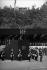 Discours d'André Malraux (1901-1976), écrivain et homme politique français, place de la République, pour la présentation du projet de Constitution de la Vème République. Paris, place de la République, 4 septembre 1958. © Bernard Lipnitzki / Roger-Viollet