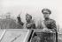 Francisco Franco (1892-1975), homme d'Etat espagnol, et José Varela (1891-1951), général espagnol et ministre de l'Armée, lors du défilé célébrant le deuxième anniversaire de la victoire sur les Républicains. Madrid (Espagne), 1941. © Ullstein Bild / Roger-Viollet