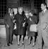 Marlene Dietrich, actrice américaine d'origine allemande, entourée d'Henri Salvador, chanteur français, et de son épouse, Jacqueline. Paris, Club Saint-Hilaire, 1963. © Roger-Viollet