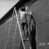 Mise à jour du panneau d'affichage. Internationaux de France. Paris, stade Roland-Garros. Mai-Juin 1977. © Roger-Viollet
