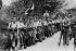 Guerre d'Espagne (1936-1939). Soldats volontaires carlistes ralliés à Franco. © Roger-Viollet