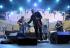 Jazz à Vienne. Mike Stern, guiatriste, Didier Lockwood, violoniste, Tom Kennedy. 2 juillet 2011.  © Gérard Amsellem / Roger-Viollet
