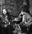 """Christian Bérard, décorateur français et Louis Jouvet, acteur. """"La Folle de Chaillot"""" de Jean Giraudoux. Paris, théâtre de l'Athénée, 1945. © Studio Lipnitzki / Roger-Viollet"""