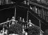 Le président Poincaré (1860-1934) assistant aux fêtes de la Victoire à l'hôtel de ville de Bruxelles (Belgique), 1919. © Maurice-Louis Branger/Roger-Viollet