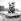 Statue enneigée dans le parc du château. Versailles (Yvelines), vers 1960.  © Roger-Viollet