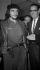 Cuba. Ernesto Guevara (1928-1967), révolutionnaire cubain d'origine argentine et le président Osvaldo Dorticos. Vers 1960.     GLA-BFC-PLANCHE16-1 © Gilberto Ante/BFC/Gilberto Ante/Roger-Viollet