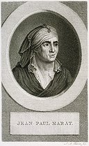 Citizen Montaland and Claude-Louis Desrais. Portrait of Jean-Paul Marat, French politician and deputy at the French National Convention in 1792. Etching. Paris, musée Carnavalet. © Musée Carnavalet / Roger-Viollet