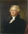 Healy d'après Stuart. Thomas Jefferson (1743-1826), 3ème président des Etats-Unis. Blérancourt, Musée franco-américain. © Roger-Viollet
