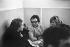 Romy Schneider (1938-1982), actrice autrichienne, Marguerite Duras (1914-1996), écrivain français et Melina Mercouri (1920-1994), actrice et femme politique grecque. © Roger-Viollet