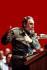 Fidel Castro (1926-2016), homme d'Etat et révolutionnaire cubain, prononçant un discours au comité central du parti communiste cubain. La Havane (Cuba), 10 février 1988. © Ullstein Bild / Roger-Viollet