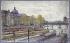 """Frédéric-Anatole Houbron (1851-1908). """"Le quai Conti et le pont des Arts"""". Peinture sur enduit frais sur carton, 1905. Paris, musée Carnavalet. © Musée Carnavalet/Roger-Viollet"""
