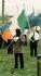 Membre de l'IRA (Irish Republican Army), Armée républicaine irlandaise, prononçant un discours lors d'un rassemblement républicain. Crossmaglen (Irlande du Nord), 30 mars 1997. Photo : Brian Little. © PA Archive/Roger-Viollet