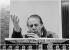 Karlheinz Stockhausen (1928-2007), compositeur et chef d'orchestre allemand, dirigeant un orchestre à Broadcasting House. Londres (Angleterre), janvier 1985. Photo : Clive Barda. © Clive Barda/TopFoto/Roger-Viollet